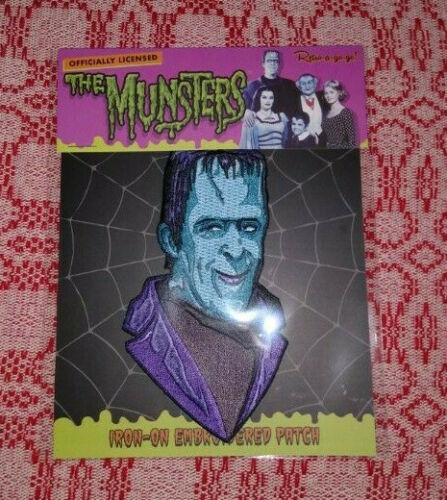 Large Herman Munster Embroidered PATCH - Retro-a-go-go, The Munsters, Iron-On