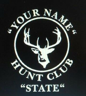 Personalized Hunting Club Decals Deer Hunt