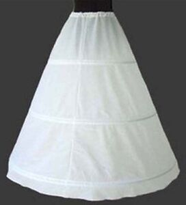 NEW 3-HOOP Ball Gown BONE FULL CRINOLINE PETTICOAT WEDDING SKIRT SLIP