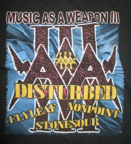 2006 MUSIC AS A WEAPON (XL) T-Shirt STONE SOUR DISTURBED FLYLEAF NONPOINT
