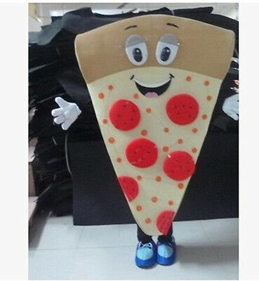 Newly 2019 Cute Pizza Mascot Costume Cartoon Adult Nice Looking For Advertising