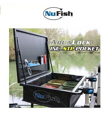 Brand New Nufish Aqualock Side Tray - New 2017 Edition with Pocket