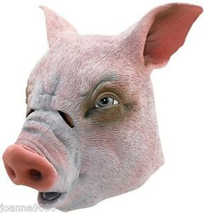 PIG-OVERHEAD-RUBBER-MASK-FANCY-DRESS-ADULT-ANIMAL-ZOO-HALLOWEEN-FUNNY-FARM