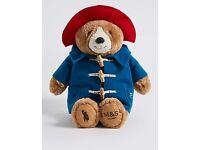 M&S Paddington Bear Teddy plush Toy Christmas advert 2017 marks and spencer