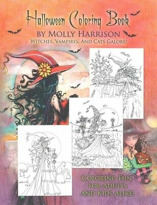 Halloween Adult Coloring Book, Paperback by Harrison, Molly (ILT), ISBN 15171... - Harrison Halloween