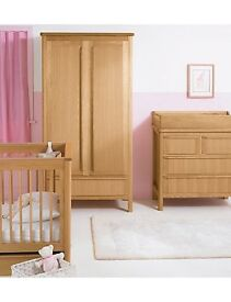 Marks & Spencer Oak Nursery Chloe Furniture - Cot Bed, Changing Unit, Wardrobe