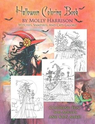 Halloween Adult Coloring Book, Paperback by Harrison, Molly (ILT), ISBN - Harrison Halloween