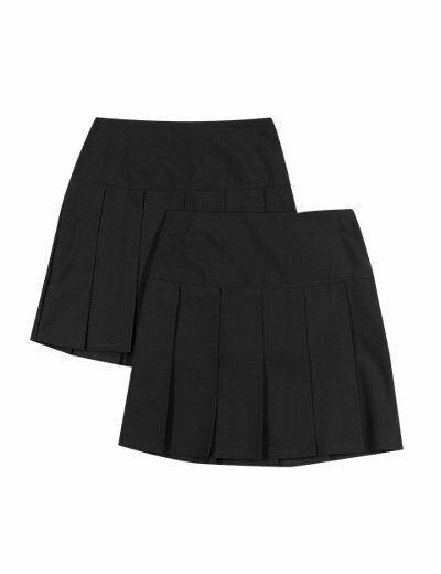 BNWT 2 pack M&S permanent pleat grey school skirts, age 13-14 years, Cost £14 accept £8. Bargain