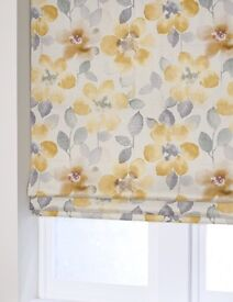 next Roman blind in ochre and grey