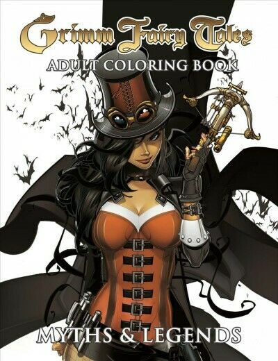 Grimm Fairy Tales Adult Coloring Book : Myths & Legends, Paperback by Zenesco...