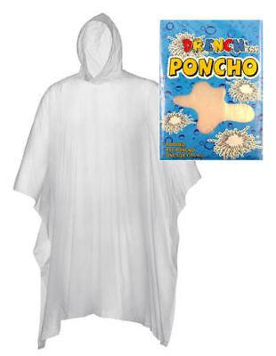 Wegwerf Transparent Poncho - Wasserdichter Regen Mantel Festival Theme Park (Wasser Themen Kostüme)