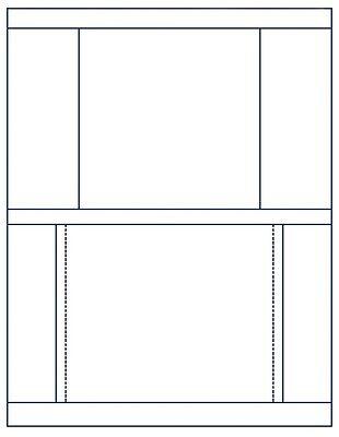 MATTE FINISH Jewel Case =Front/Back= INSERTS 100-Pak (100 sets), Stomper format