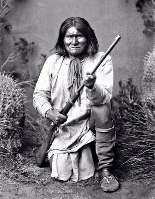 Geronimo Photo Large 11X14 - 1887 Apache Indian Chief