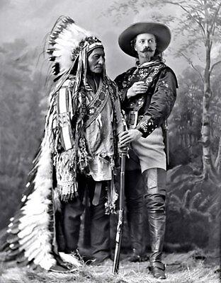 Bill Cody Sitting Bull Photo Large 11X14 - 1885 Buffalo Lakota Indian Chief