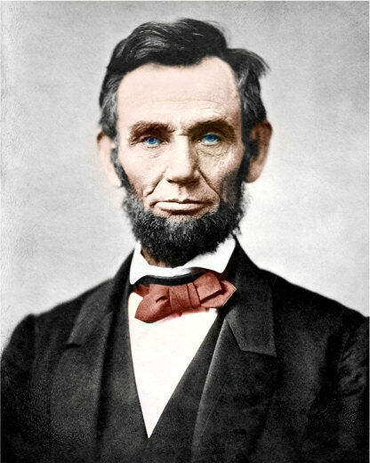 Abraham Lincoln #1 Photo 8X10 - COLORIZED
