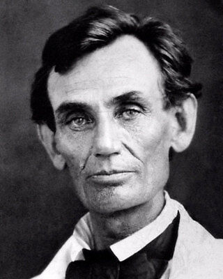 Abraham Lincoln #6 Photo 8X10 - 1858 B&W  Buy Any 2 Get 1 FREE