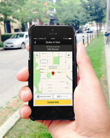 Get a taxi fast and easy with a tap of an app