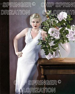 Jean Harlow Next To A Glass Vase   2  Beautiful Color Photo By Chip Springer