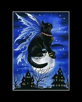 I Spirit Halloween (Halloween Spirit Cat ACEO Print by I)