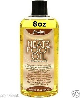 Neatsfoot Oil (Angelus Prime Neats Foot Oil Compound Waterproof 8oz Boots Shoes Baseball)