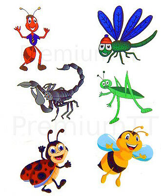 Lady Bug Tattoos (Temporary Insect Bug Tattoos - 7 sheets (42 tattoos) Ladybug Bumblebee)