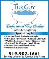 THE TUB GUY   BATHTUB REGLAZING $340.00 PLUS HST