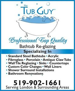 THE TUB GUY   BATHTUB REGLAZING $340.00 PLUS HST London Ontario image 1