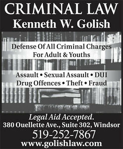 Windsor Criminal Defence Lawyer, Kenneth W. Golish, avocat penal Windsor Region Ontario image 2