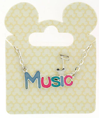 AUTHENTIC DISNEY PARKS MICKEY MOUSE MUSIC Necklace -