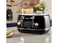 Branded Bottega T20017 4-Slice Toaster, Black SEALED RRP £109