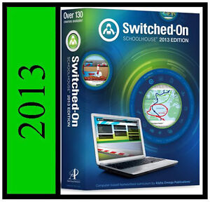 2013-SWITCHED ON SCHOOLHOUSE SOS 7 7th GRADE 4-SUBJECT HOMESCHOOL SOFTWARE SET