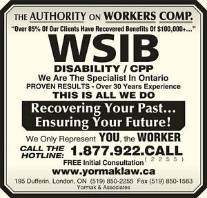 FREE Consultations - Denied WSIB, CPP, STD/LTD Insurance???