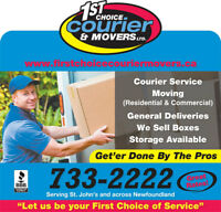 Moving with the Pro`s  by First Choice Courier & Movers LTD
