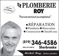 PLOMBERIE ROY inc. =  plombiers d 'expériences