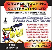Experienced Roofers, Eavestroughers & Labourers