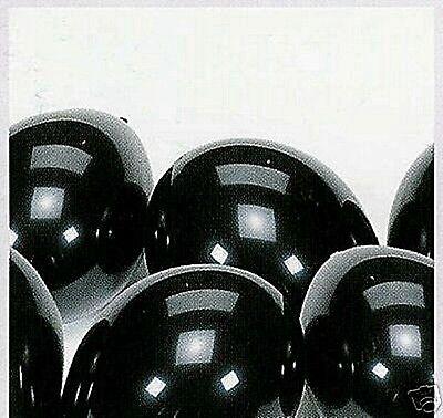 100 Luftballons * Helium geeignet * D: 25 cm schwarz Geburtstag Halloween
