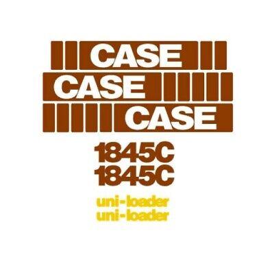New Case Skid Steer 1845c Decal Set 1845 C Stickers Emblem Kit Skidsteer Tracks