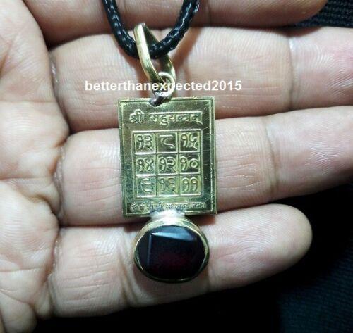 Very Rare Rahu Dosha Yantra Pendant with Hessonite(Gomed) Stone 5 Ratti,or480 mg
