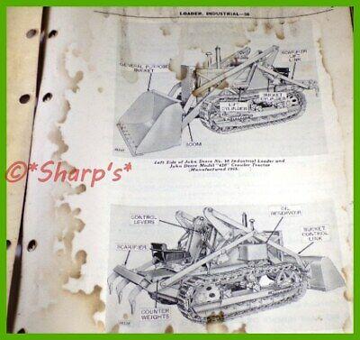 John Deere 420 Crawler Industrial 90 Loader Parts Catalogpc514 Dealership Copy