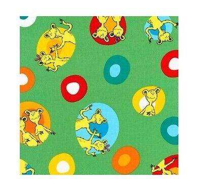 Baby Fabric - Hop on Pop Dr Seuss Character Toss Green - Robert Kaufman YARD - Dr Seuss Character Costume