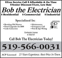 LICENSED QUALIFIED ELECTRICIAN
