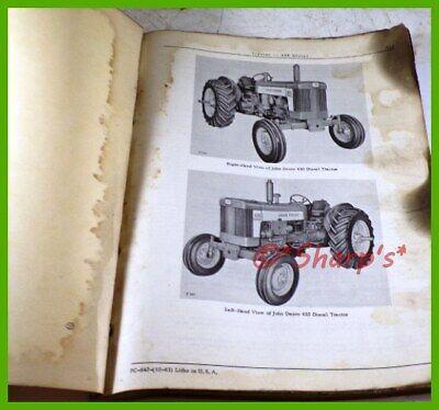 John Deere 435 Diesel Parts Catalog Pc642 Genuine Original 1963 Version Usa