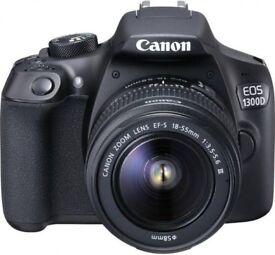 Canon 1300D // DSLR // W / 3 Lenses