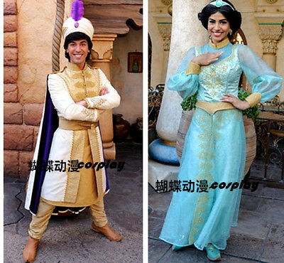 Aladdin Princess Jasmine Dress ALADDIN Prince cosplay costume outfit custom made - Princes Jasmine Costume