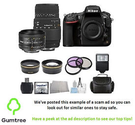 NIKON D810 DIGITAL DSLR BODY WITH ACCESSORIES -- Read the description before replying!!