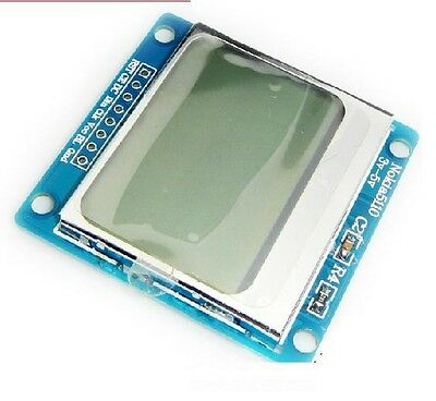 Blue Backlight Nokia 5110 Lcd Module With Adapter Pcb For Arduino