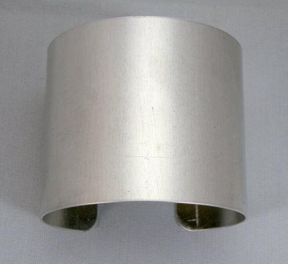 "Aluminum Cuff Bracelet Blanks, 2"" x 6"", one dozen"
