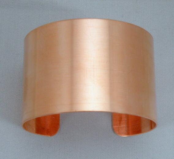 "Solid copper Bracelet Blanks, 1 1/4"" x 6""  one Dozen 20 gauge blanks"
