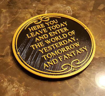 "8"" Magic Kingdom DW Entranceway Plaque Inspired Sign - (Disney Inspired Prop)"