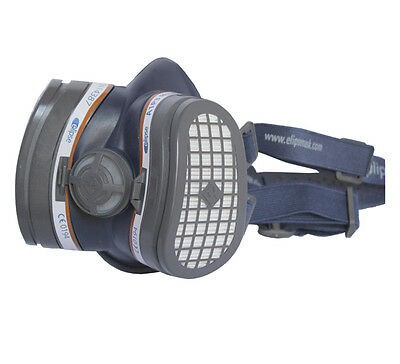 Elipse SPR338 Half Mask with A1-P3 Filters In Size Small/Medium